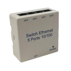 Switch ethernet 5 ports 10/100 MBps, Blanc